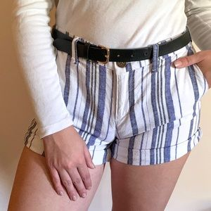 Striped Shorts blue and white